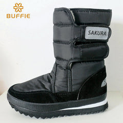 2016 autumn winter shoes men mid calf black snow boots plush warm fur winter man shoe plus size 35 to 45 brand shoes women boots