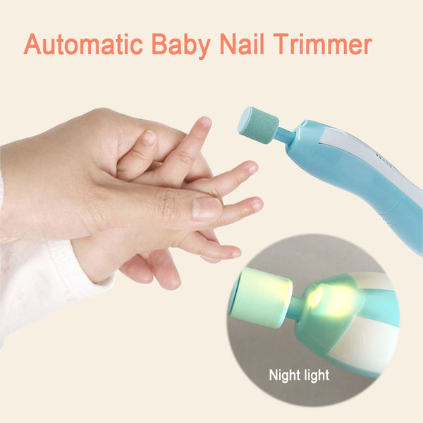 2018 Electric Baby Nail File Trimmer With Light 6 Grinding Heads ...