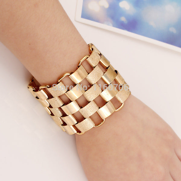 2015 New Fashion Designer Bijoux Bracelets For Women Accessories Gold Alloy Cuff Bangles Statement Jewelry