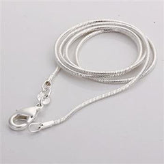 C008 Cheap Hot 1MM Thin Top quality 925 stamped silver plated Snake Chain Jewelry Findings 16