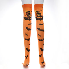 desire #50 2018 new creative Halloween Print Long Tube Knee Socks Fancy Dress Party Funny Dress Up Props