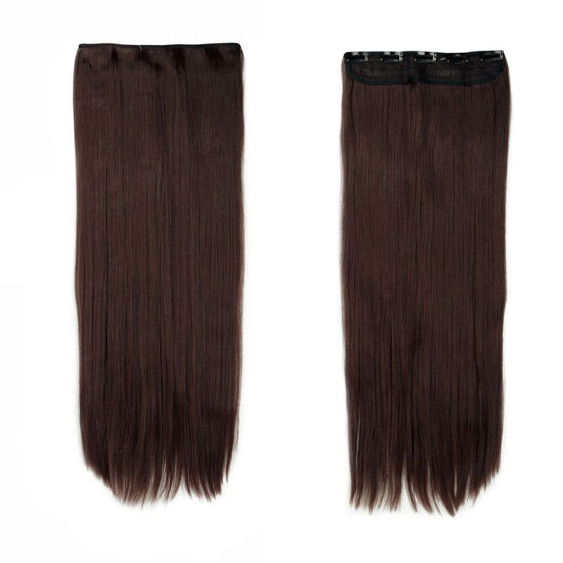 New 100 Natural Straight Hair Clip In On Hair Extensions 26 Inch