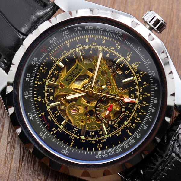 2017 Fashion Automatic Mechanical Jaragar Photochromic Glass Gift Relogio Masculino Mens Watch