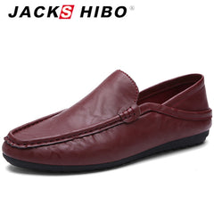 JACKSHIBO 2016 spring summer elegant man leather loafers,brand designers mens shoes sales,retro slipony boat flats shoes 7 8 9