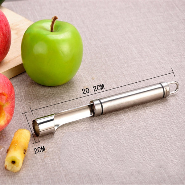 2017 New Stainless Steel Core Remover Amazing Fruit Pear Corer Easy Twist Kitchen Tool Gadget Hot Sale