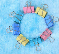 40 pieces/Lot Clips 19mm Metal Binder Clips Paper Clips School supply Office Supplies Stationery Binding Supplies Colorful clips