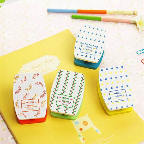 Creative Mini Wooden Stapler Cute Kawaii Leaf Dot Stapler Novelty Item Office Binding Supplies Free Shipping 2701
