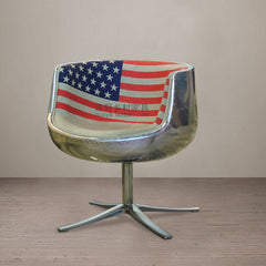 American industrial aviation aluminum furniture office chairs bar lounge chairs industrial village loft villa furniture