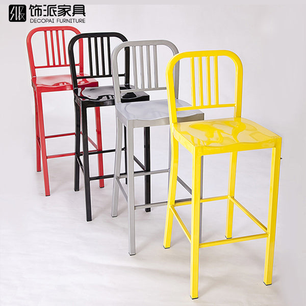 High chair foot chair simple modern fashion bar stool metal bar iron chair bar direct shipping