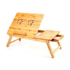 Folding Portable Flower Bamboo Bed Tray Table Laptop Notebook Computer Desk NEW