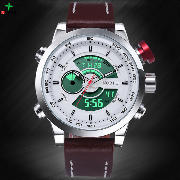 New Fashion Montre Homme Waterproof Sport Digital LED Analog Digital Brand Luxury Quartz Men Sports Watches