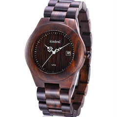 2017 New Fashion Wooden Gift Bangle Quartz Watch with Calendar Display Role