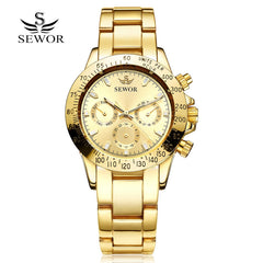 2017 New Arrival SEWOR Sport Steel Clock Fashion Mechanical Automatic Wristwatch for Men