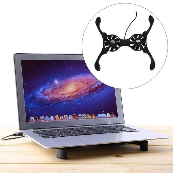 USB Mini Octopus Laptop Notebook Fan Cooler Cooling Pad Folding Coller Fan With Retail Box Free Shipping