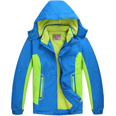 Children Outerwear Warm Coat Sporty Kids Clothes Double-deck Waterproof Windproof Boys Girls Jackets For 6-14T Winter and Autumn