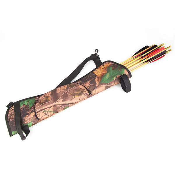Brand New New Arrival Camo Archery Hunting Bow ARROW BACK /SIDE QUIVER Holder Bag Zipper