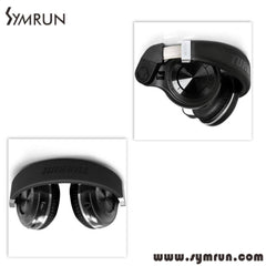 New Arrival Symrun Original T2 4.1 Stereo Foldable Style Bluetooth V4.1 + Edr Noise Canceling Wireless Headphone Mic
