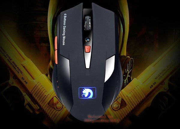2017 New Arrival Blue-ray light 6D Button USB CS/CF Gaming Mouse Mice 2000DPI
