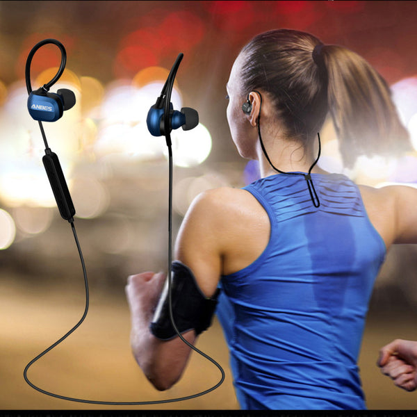 New Fashion Sport Bluetooth Headsets 4.1 Hands Free Stereo Best Earphones with Mic For Samusng Xiaomi