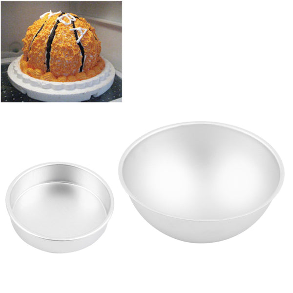 4Pcs Hot Sale 3D Aluminum Ball Sphere Bath Mold Cake Pan Tin Baking Pastry Mould Quality Chocolate Mould Bowl Birthday Bakeware