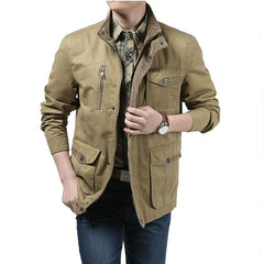 6XL Military Brand Men 2016 Autumn Winter Cotton Green and Khaki Outdoors Casual Men Jackets & Coats