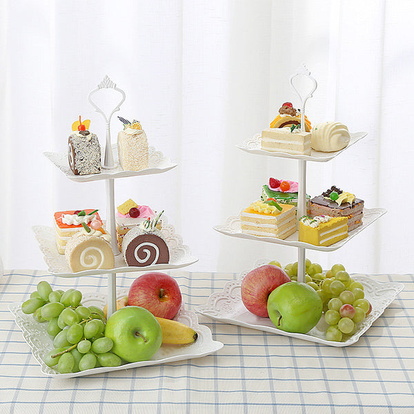 europe tray Plastic Serving Platter Cake Stand trayDessert tray square candy pan Tea Party  fruit tray in part kitchen helper
