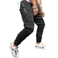 Men Pants Fashion Splicing Multi Pocket Harem Joggers Pants 2018 Male Trousers Mens Joggers Solid Pants Sweatpants Large Size