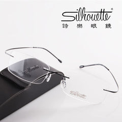 Brand Titanium Rimless Glasses  Myopia Glasses Frame for Man and Woman