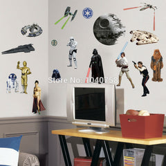 Death Star Wars Poster Wall Stickers Movie Lego Wall Decals Art Stormtrooper for Kids Rooms Home Decoration WallPaper Kids Pape