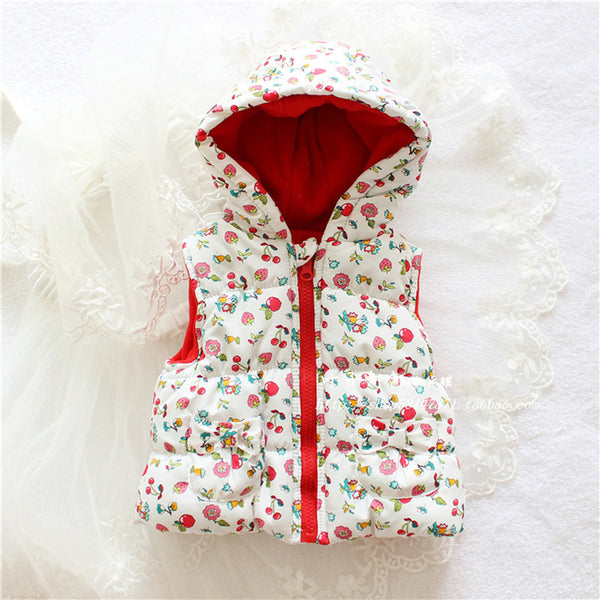 Hot Sale Girls' flowers Cotton  Cute Waistcoat Kids Vest Children  Free Shipping autumn lace