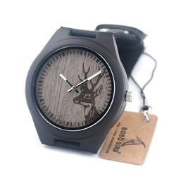 New Fashion BOBO BIRD G03 Japan Movement Quartz Wooden Creative Gifts Antique Casual Watches for Men with Genuine Cowhide Leather Band