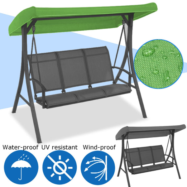 191x120x23cm Canopy Waterproofed Swing Chair Tent Sunshade Camping Swing Roof Replacement Garden Supplies Fabric  Sun Shade