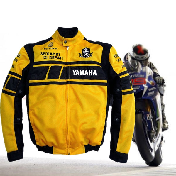 Men Riding For Yamaha Motorcycle Jacket Motorcycle Protection Armor Protect Pads MotoGP Gear Outdoor Sports Chaqueta Moto Verano