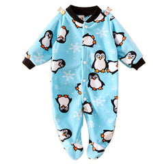 Brand Baby Clothes Pajamas Newborn Baby Rompers Animal Infant Fleece Long Sleeve Jumpsuits Boys Girl Spring Autumn Clothes Wear