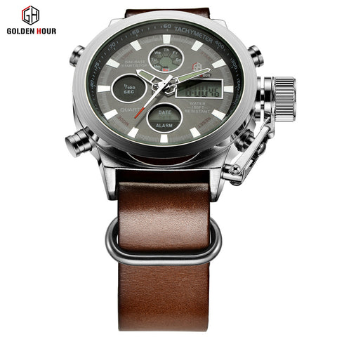 New Arrival Relogio Masculino Luxury Brand Quartz Hour Analog Digital LED Sports Army Military Wrist Watch for Men