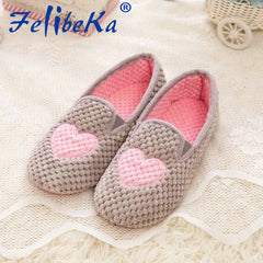 2017 New Spring Pink Star Love Heart Slipper Flat Indoor at Home Shoes for Ladies