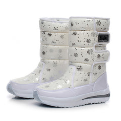 New Hot Sale Waterproof Snowflake Cotton Super Warm Platform Ankle Boots for Women
