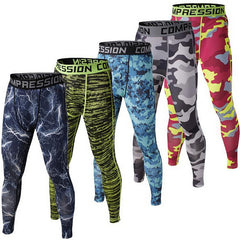New Compression Crossfit Tights for Men Bodybuilding Pants Trousers Camouflage Mens Joggers Hot Sale
