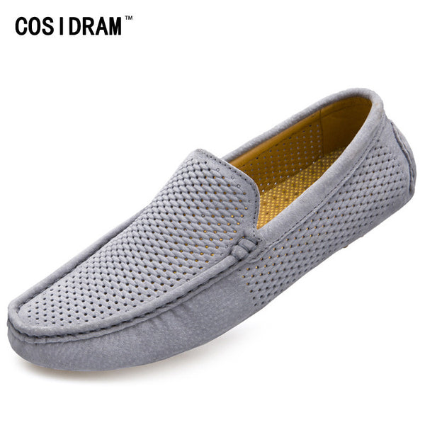 Men Loafers 2016 Casual Boat Shoes Fashion Genuine Leather Slip On Driving Shoes Moccasins Hollow Out Men Flats Gommino RMC-216