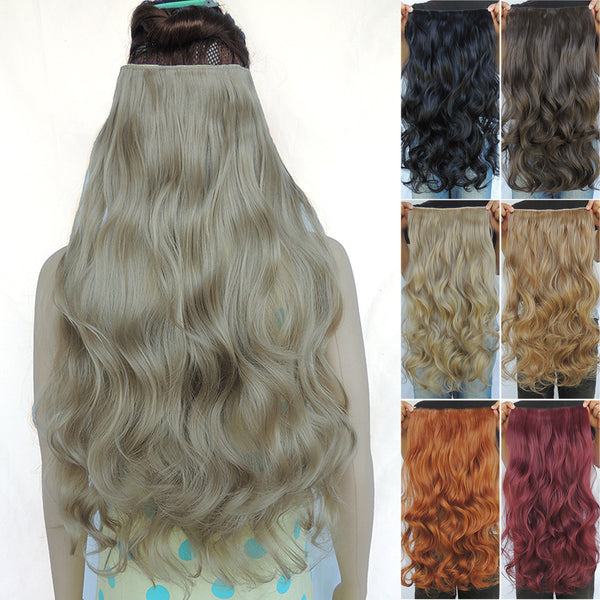 New Fashion Synthetic Extensions Pieces 24inch Curly Extension Aplique De Cabelo Free Shipping 25 Colors
