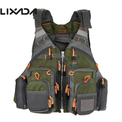 Lixada Fishing Vest Breathable Outdoor Sports Fly Swimming Life Safety Waistcoat Survival Utility Fly Vest Colete Salva-Vidas