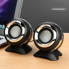 Mini Portable Computer Speaker USB Stereo Speakers Line Controller Soundbar With For PC Laptop Notebook Phone Mp3 Music Player