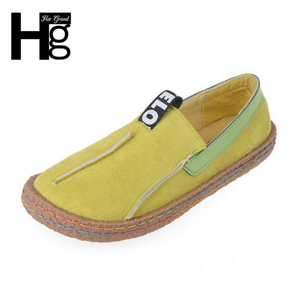 HEE GRAND Plus Size 35-42 Women Loafers Shoes Round Toe Casual Pattern Lady Flat Shoes Comfortable Shallow Slip-on Shoes XWD4629