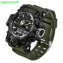 SANDA 742 Military Men's Watches Top Brand Luxury Waterproof Sport Watch Men S Shock Quartz Watches Clock Relogio Masculino 2018