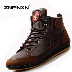 ZNPNXN Men Shoes Casual Men Spring Autumn Boots Breathable Leather Ankle Boot For Men Luxury  Zapatos Hombre Size 39-43