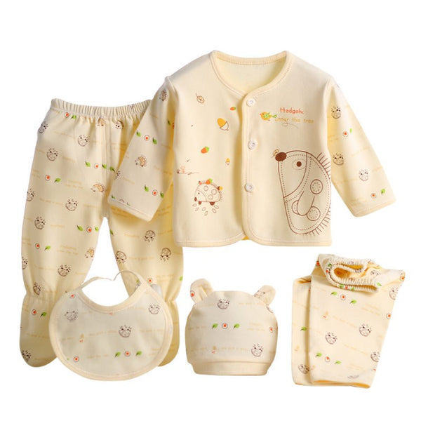 New 5pcs/set born Baby Clothing Set Brand Baby Boy Girl Clothes 100% Cotton Cartoon Underwear