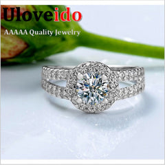 Fashion Zirconia Stone Silver Rings for Women Engagement Girls Valentine's Gift,Fine Beautiful Star Charm Jewelry Big Sale J510P
