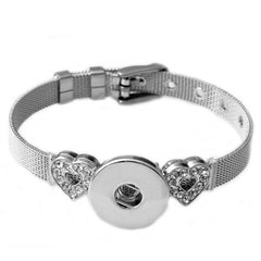 P00610 Wholesale Snap Button Bracelet&Bangles Fashion Stainless Steel Charm Bracelet Woman FIt 18mm Snap Button Rivca Jewelry