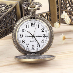 New Fashion Antique Vintage Retro Bronze Quartz Pendant Chain Necklace Pocket Watch for Men