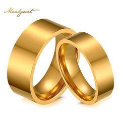 Fashion 18k Gold Plated Wedding & Engagement Rings For Men And Women Jewelry Wedding Bands Classic Style Couple Rings